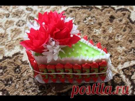 As quickly and easily to make piece of cake of candies on a gift