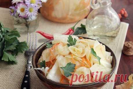Капуста маринованная кусочками на зиму - рецепт | Cookingfood.com.ua