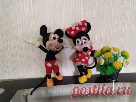 Минни Маус, ч.4. Minnie Mouse, р.4. Amigurumi. Crochet. Вязать игрушки, амигуруми.