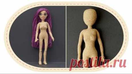 Кукла крючком Виолетта , часть 5 (Голова). Crochet doll Violetta, part 5 (Head)
