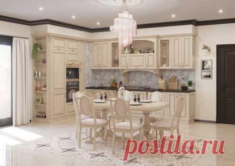 Дворянское гнездо - гармоничная модель, сочетающая в себе все важные составляющие кухни. Дизайнерская мысль и передовые технологии придали ей аристократичность и индивидуальность. Дворянское гнездо заинтересует всех, кто предпочитает богатство и изящество. Фасады и декоративные элементы кухни выполнены из массива ясеня, окрашены в теплый светло-бежевый цвет и патинированы золотом. Дугообразные арки, витые колонны, радиусные фасады и резные капители прекрасно сочетаются с п...
