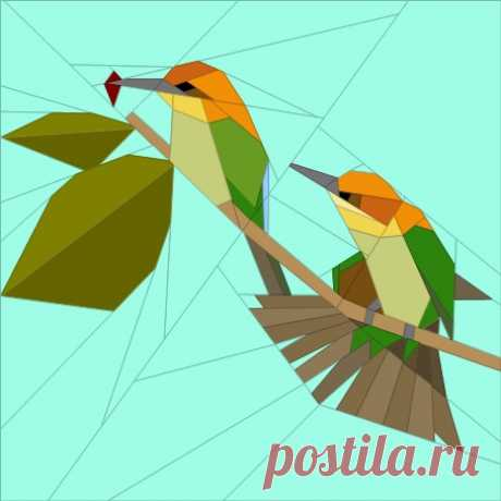 Bee Eaters – Quilt Art Design