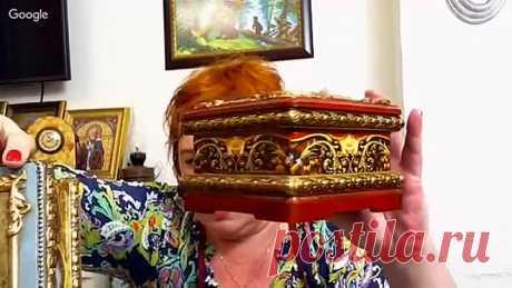 Татьяна Куксенко. Шкатулка в стиле Федоскино