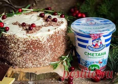 Шоколадный торт со сметанным кремом пошаговый рецепт с фото | prostokvashino.by