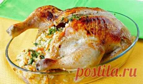 Курица с начинкой в духовке: готовлю каждый Новый год