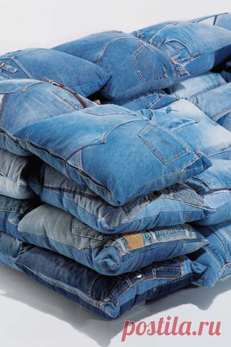 6 невероятных идей для повторного использования старых джинсов.