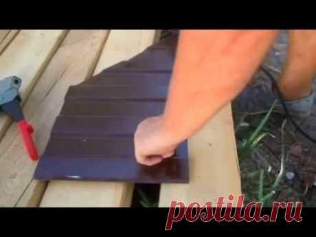 Как заделать отверстия в металлопрофиле от саморезов (шурупов) - YouTube