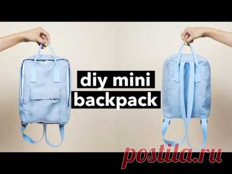 DIY Mini Backpack From Scratch! (Fjällräven Kånken style)