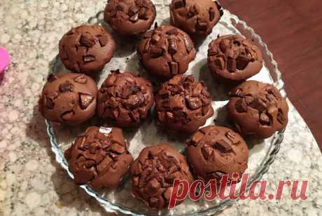 Шоколадные маффины с кусочками шоколада рецепт – французская кухня: выпечка и десерты. «Еда»