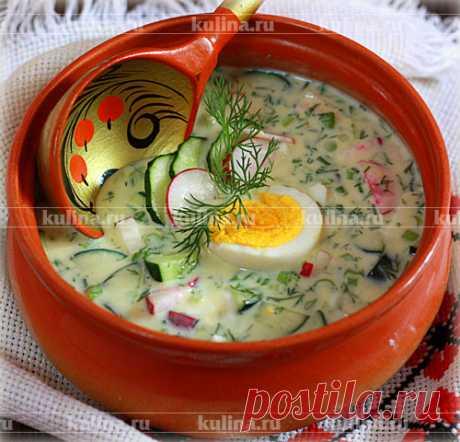 Окрошка на кефире – рецепт приготовления с фото от Kulina.Ru