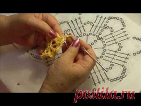 Научу вязать крючком! Урок 15. Вязание квадрата по схеме.