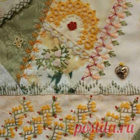 Scatterings of decorative stitches in equipment kreyzi-kvilt — Needlework