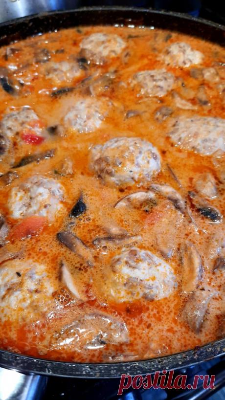 Гречаники в томатно-сметанном соусе с грибами | Поделки, рукоделки, рецепты | Яндекс Дзен