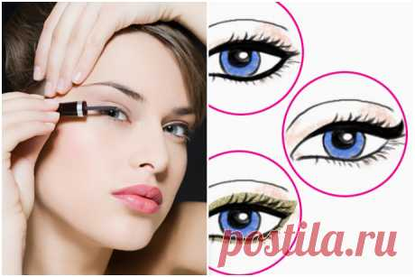 We draw different arrows: ideas on any case | the Darling I If you, as well as we, did not learn to draw easily and quickly the correct arrows, this guide will become for you the real lifesaver! 1. Daily option not to overload an eye, be limited to a thin contour through growth of eyelashes of an upper eyelid. As: the liquid liner put mikrotochechka most close to roots of eyelashes. So you with guarantee will make the line equal. It is possible to use a felt-tip pen for a century: box...