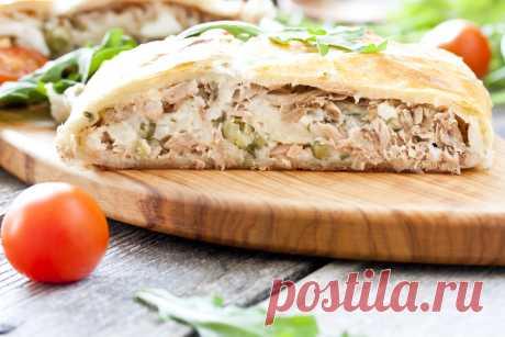 Шикарный рыбный пирог со слоеным тестом - Вкусные рецепты - медиаплатформа МирТесен