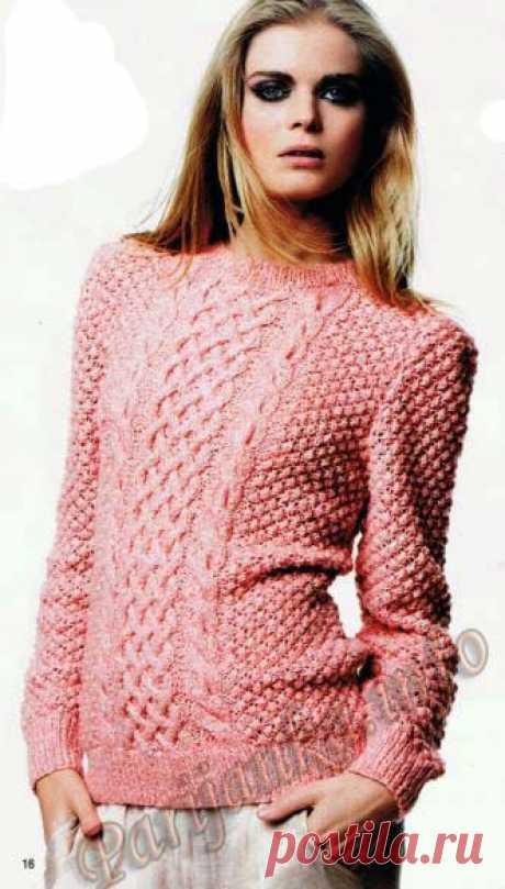 Пуловер (ж) 15*110 Phildar №4273