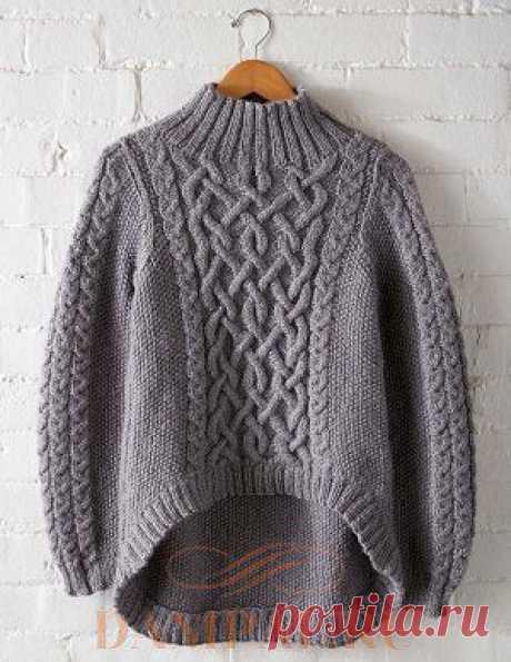 (+2) Пуловер «Rustic Trails» (Вязание спицами)