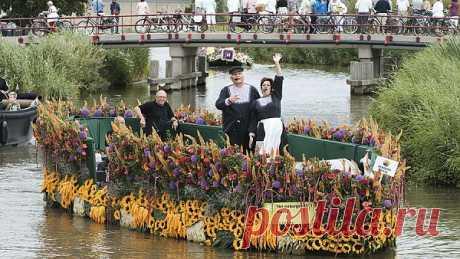 Парад цветов в Алсмере - Нидерланды - Европа - redigo.ru