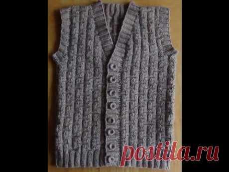 Men's vest spokes - Part 1. Vest knitting for men