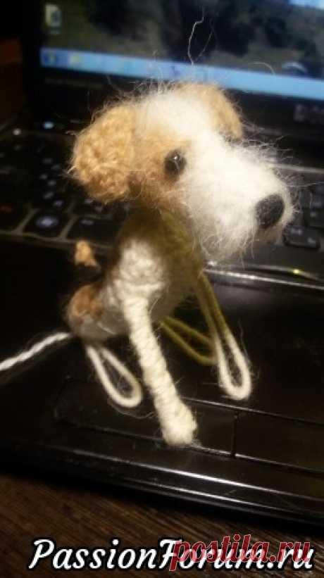 Маленькие собачки крючком.Фото процесса.(каркас,тело,лапы)