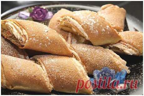 Рулет-печенье с грецкими орехами и безе..