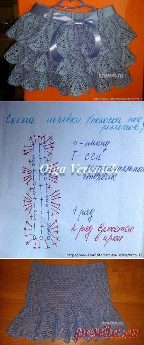 Юбка для девочки от Марины Гололобовой (Вязание крючком) – Журнал Вдохновение Рукодельницы