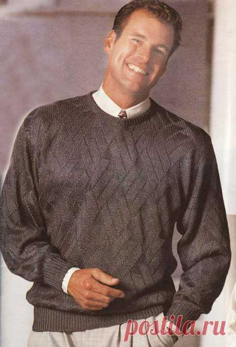 Шелковый вязаный пуловер. Шелковый вязаный пуловер. В статье представлены подробное текстовое описание вязания спицами данной модели и схема узора.