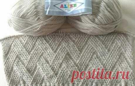 Узор для вязания оригинального пуловера. Схема