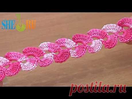 ▶ Вязание крючком Урок 8 Нежный вязаный шнур - YouTube
