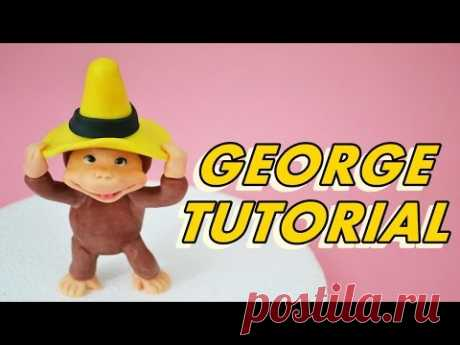 how to make MONKEY Curious George CAKE FONDANT - tutorial curioso come george pasta di zucchero