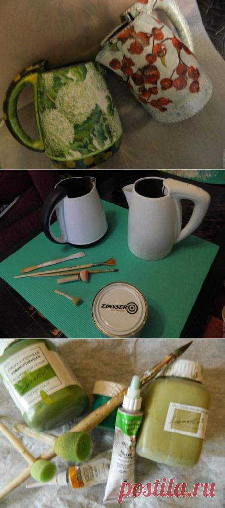 Оригинальная лейка для комнатных цветов из старого чайника