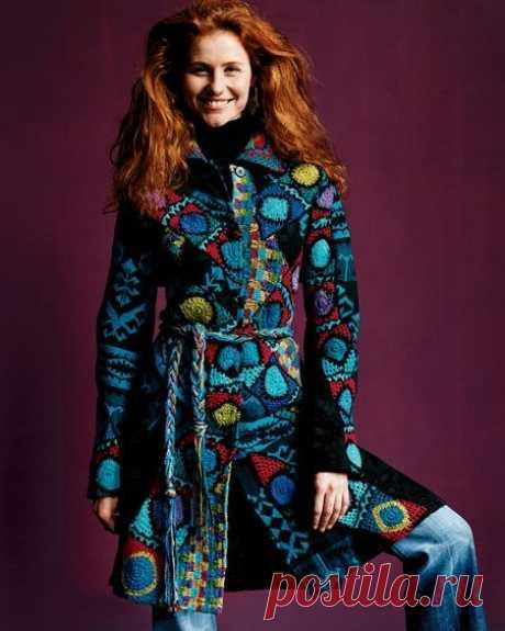 Пальто в технике фриформ схемы. Irish crochet, coat, freeform | Домоводство для всей семьи.