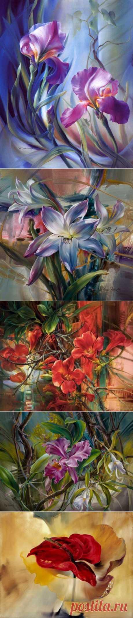 Потрясающие по красоте картины цветов от художника из Сан-Антонио……. | Арт и искусство