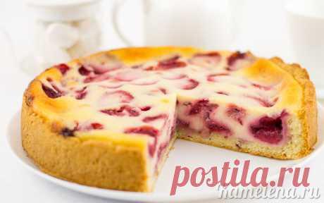 Цветаевский пирог с клубникой - нежный, ароматный и очень вкусный!