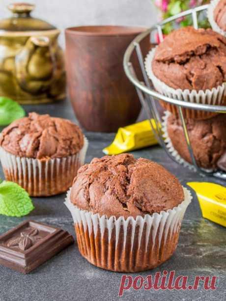 Рецепт шоколадных маффинов на Вкусном Блоге