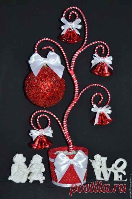 Купить СКИДКА!!! Новогодний топиарий - новогодний топиарий, топиарий на новый год, топиарий из игрушек, топиарий из елочных