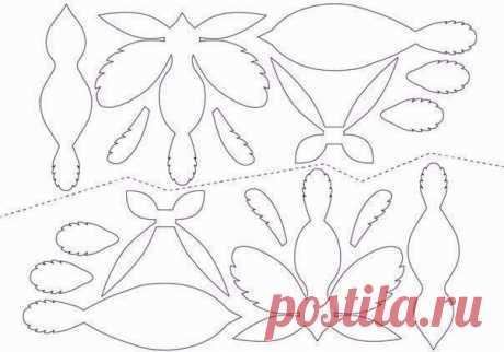 Птички из бумаги (есть шаблон) / Бумага и карандаши (скрапбукинг, оригами, и т.д.) / ВТОРАЯ УЛИЦА