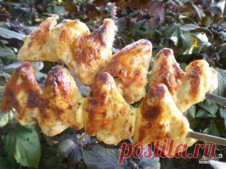 Куриный шашлык на кефире - пошаговый рецепт с фото на Повар.ру