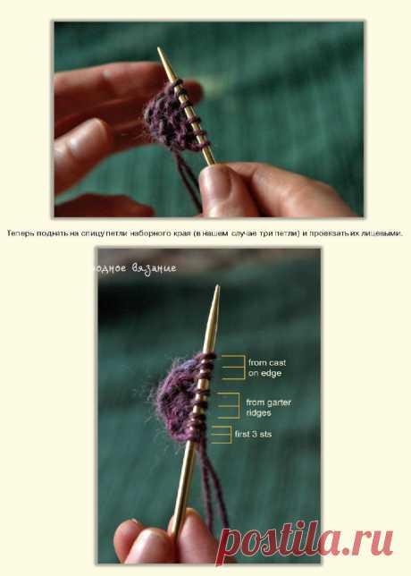 Как начинать вязание шали с ленточки - Modnoe Vyazanie ru.com
