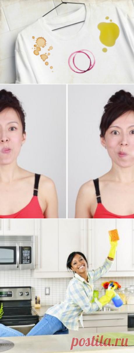 Секреты по удалению разных пятен на ткани