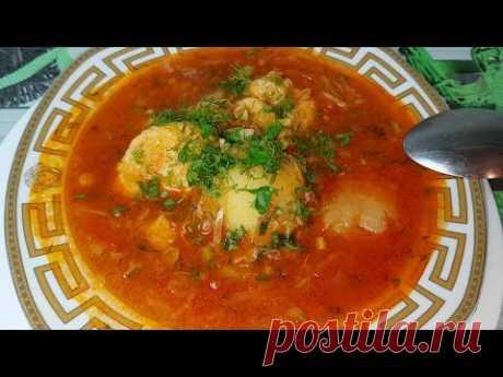 Полтавский  борщ с галушками по - цыгански. Gipsy cuisine.