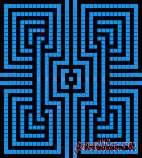 Вязание крючком - Филейное вязание - Схемы к абстрактной филейке