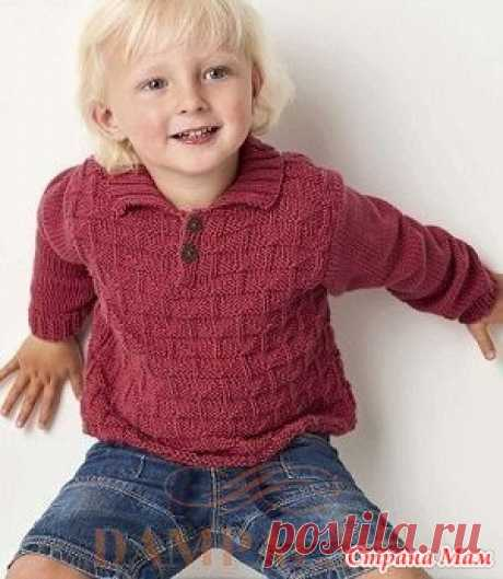 """Jumper for the boy of \""""Hammond\"""" spokes - Knitting - the Country of Mothers"""