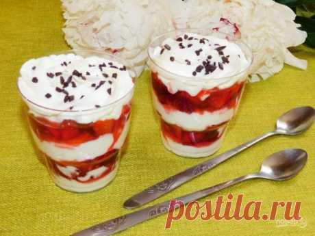 Десерт с творожным кремом и свежей клубникой - пошаговый рецепт с фото на Повар.ру