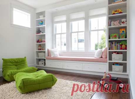 Подоконник-диван — необычное решение для дома — Наши дома