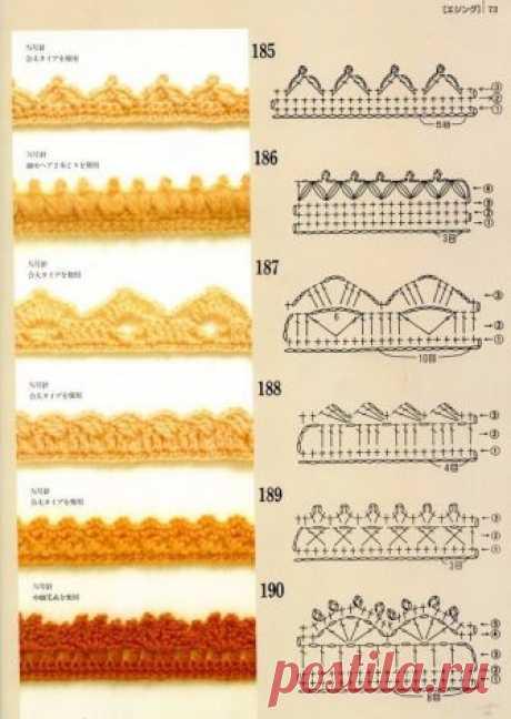 Обработка края изделия крючком: краеугольный камень красоты — Сделай сам, идеи для творчества - DIY Ideas