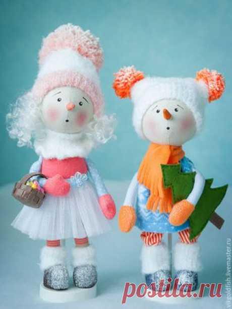 Мастер-класс: снеговичок Снежок своими руками – Ярмарка Мастеров