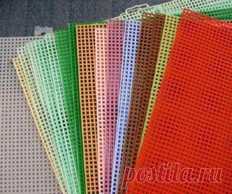 Вышивка на пластиковой канве своими руками / Домоседы