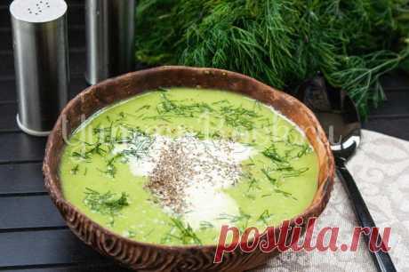 Холодный горохово-мятный суп