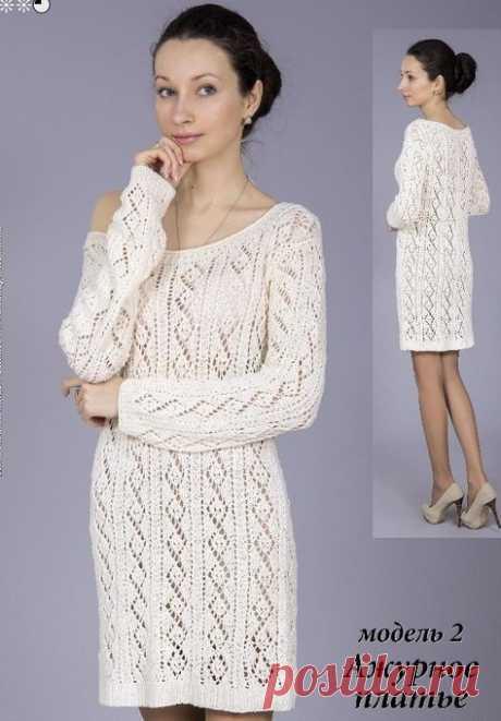 Ажурное платье спицами описание. Связать платье спицами |